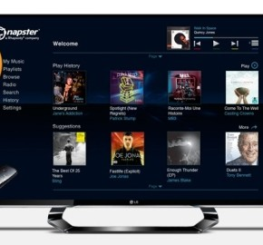 Napster TV App streams music on LG Smart multimedia televisions 570