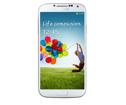 Samsung GALAXY S 4 front white