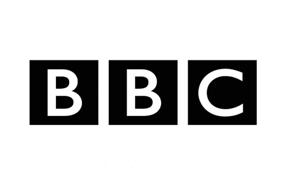 BBC logo black letters on white background