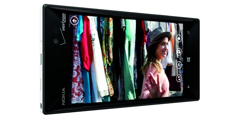 Nokia Lumia 928 flagship smartphone Verizon Wireless landscape