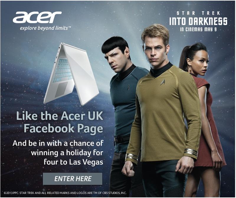 Star Trek Into Darkness Acer UK Facebook Competition